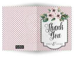 Startling Retro Polka Dots Flowers Wedding Personalized Thank You Cards Personalized Thank You Cards Retro Polka Dots Flowers Cheap Thank You Cards Personalised Cheap Thank You Cards Singapore