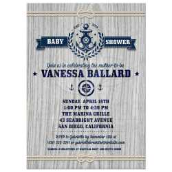 Small Crop Of Nautical Baby Shower Invitations