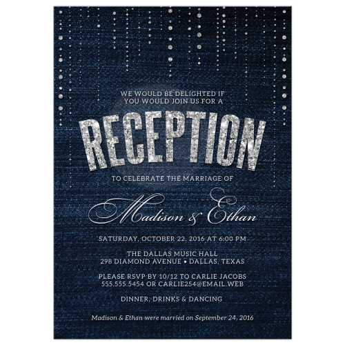 Medium Crop Of Wedding Reception Invitations