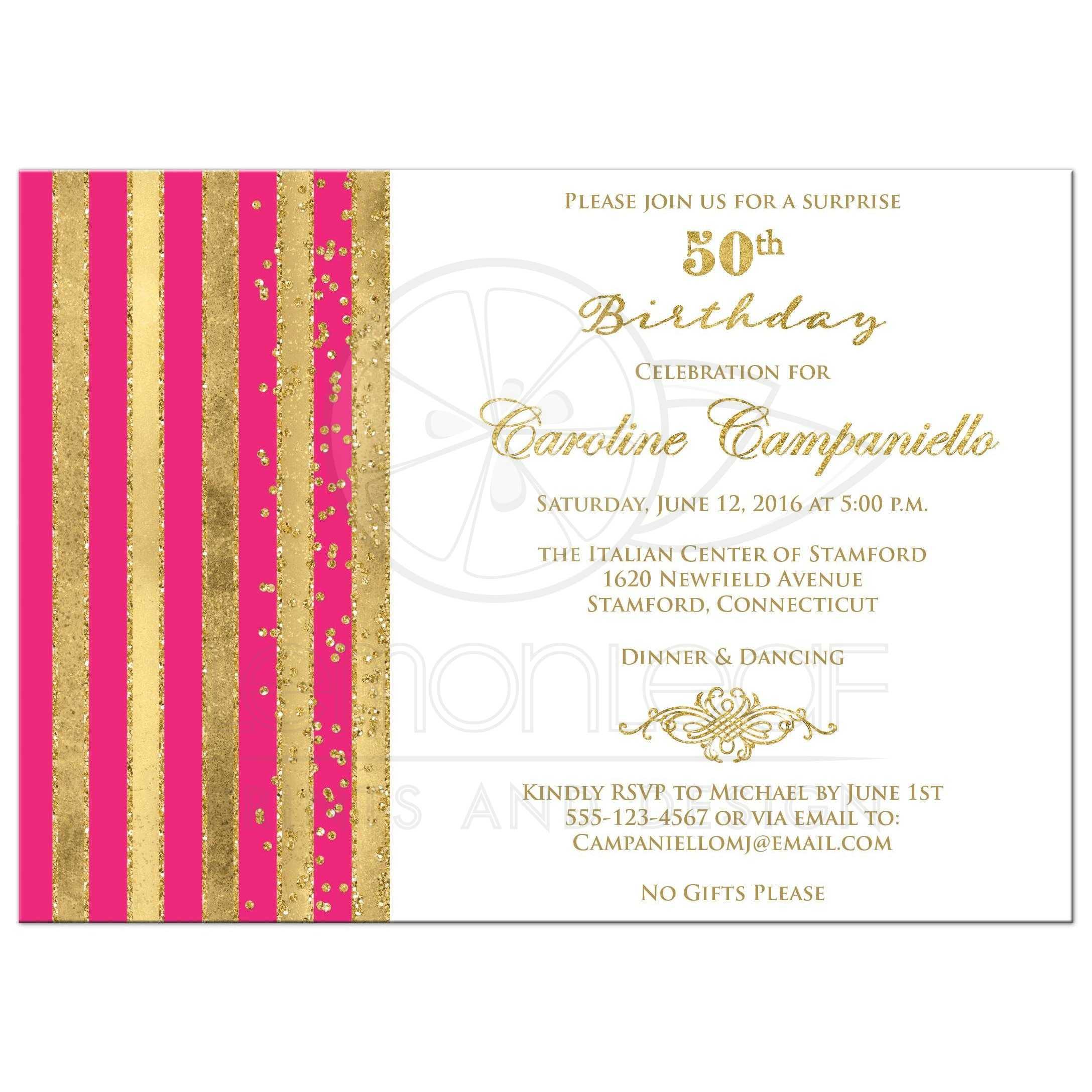 Fullsize Of 50th Birthday Invitations