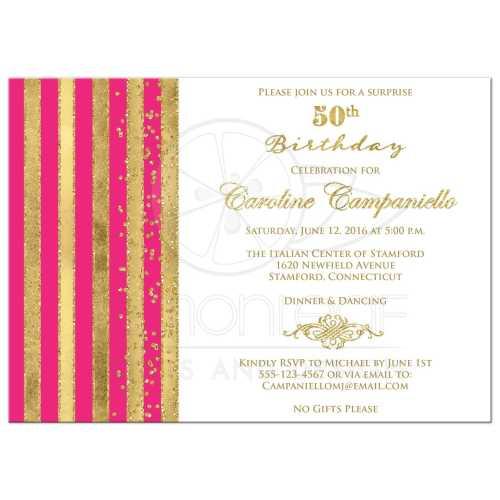 Medium Of 50th Birthday Invitations