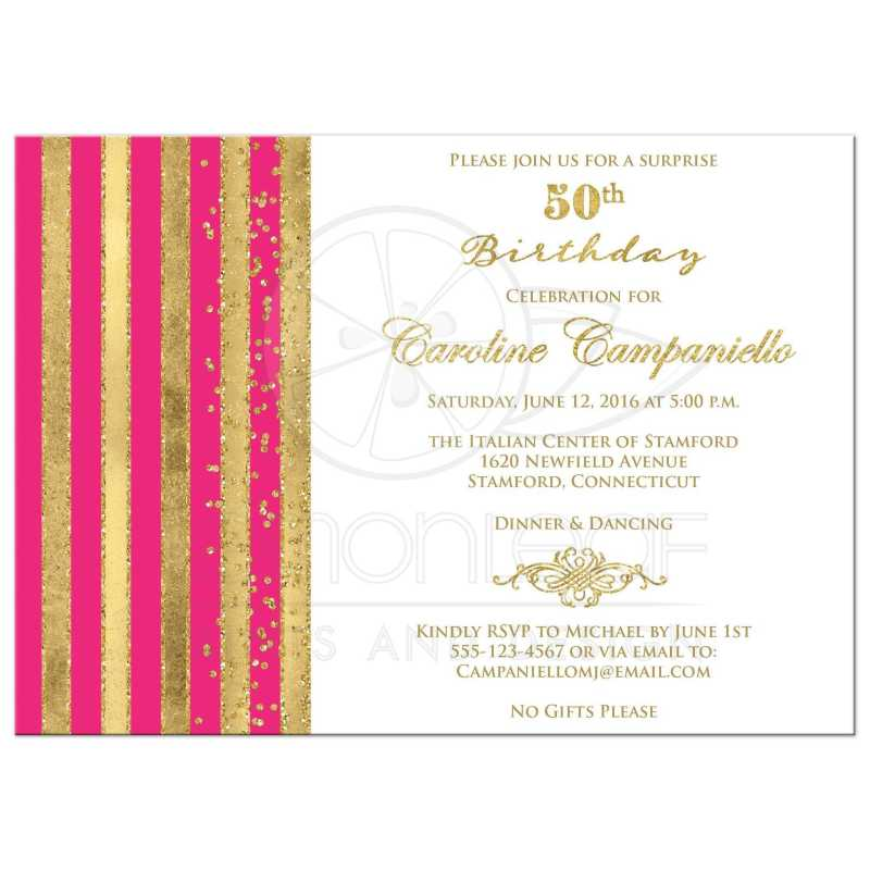 Large Of 50th Birthday Invitations