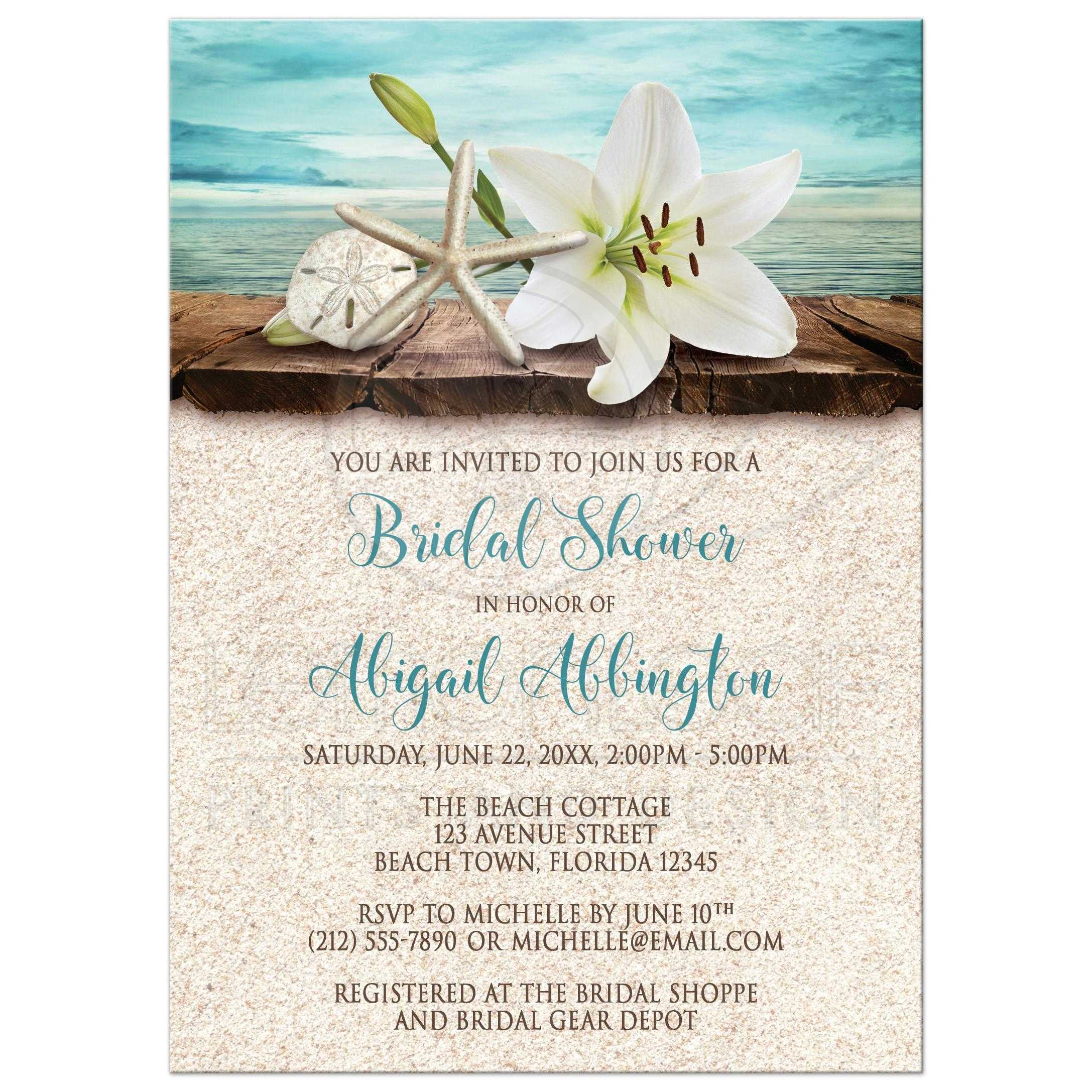 Fullsize Of Bridal Shower Invitation Wording