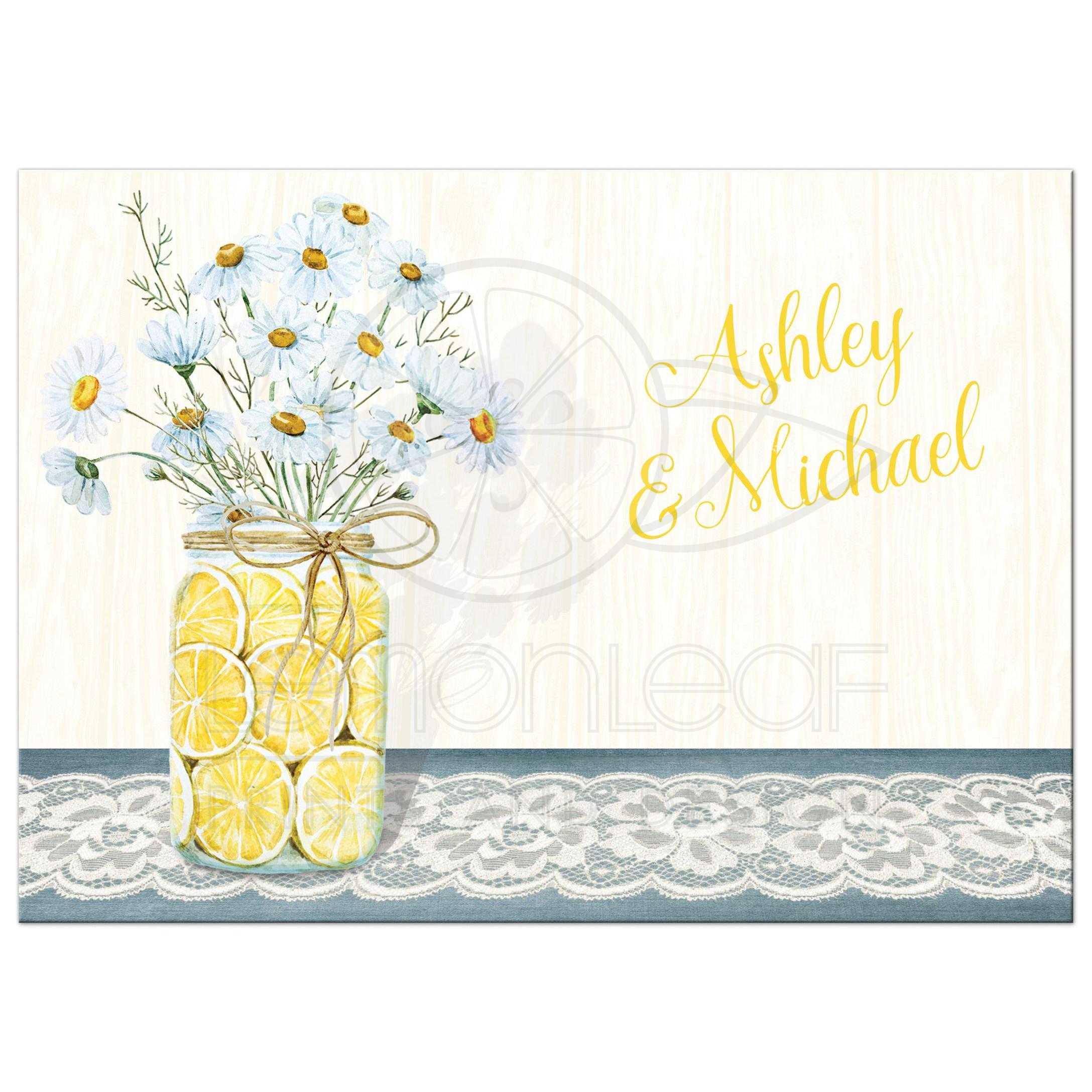 rustic wedding invitations with mason jars mason jar wedding invitations yellow blue white daisies lace denim lemons wood grain and superb mason jar wedding invitations