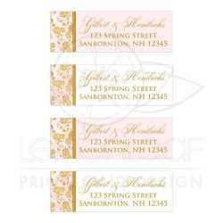 Small Of Wedding Address Labels