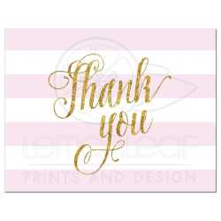 Attractive Stripes Faux G Glitter Thank You Postcard Thank You Postcards G Glitter Thank You Postcards Pink Visiting Our School Thank You Postcards Address Pink