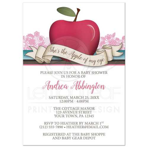 Medium Crop Of Baby Shower Invitations For Girls