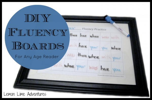 DIY Fluency Boards for Any Age Reader | Lemon Lime Adventures on This Reading Mama