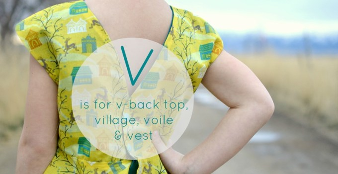 V is for… {sew all 26}
