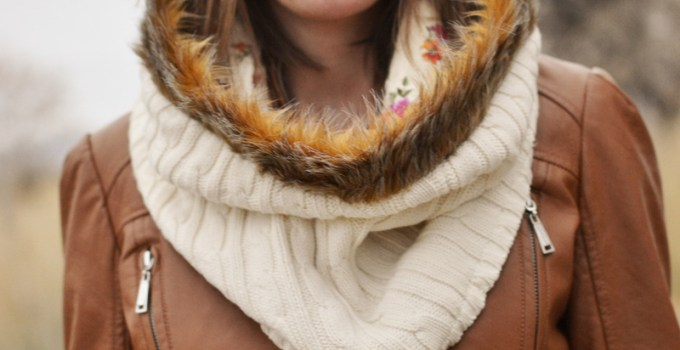 Faux Fur Sweater Cowl Scarf Tutorial + Girl Charlee KnitFix Fabric Bag Giveaway!!!