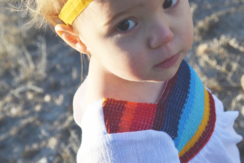 Mexican Inspired Blouse + Free Pattern for size 12 months // lemon squeezy home