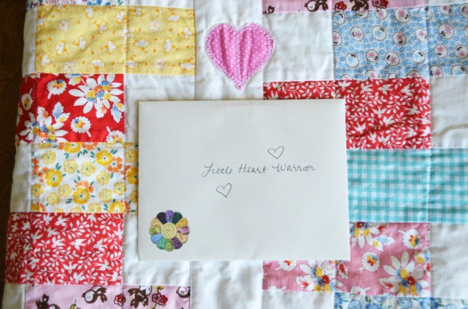 Zipper Heart Quilt Donation