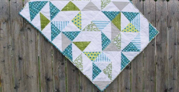 Triangle Baby Quilt for New Baby After Loss