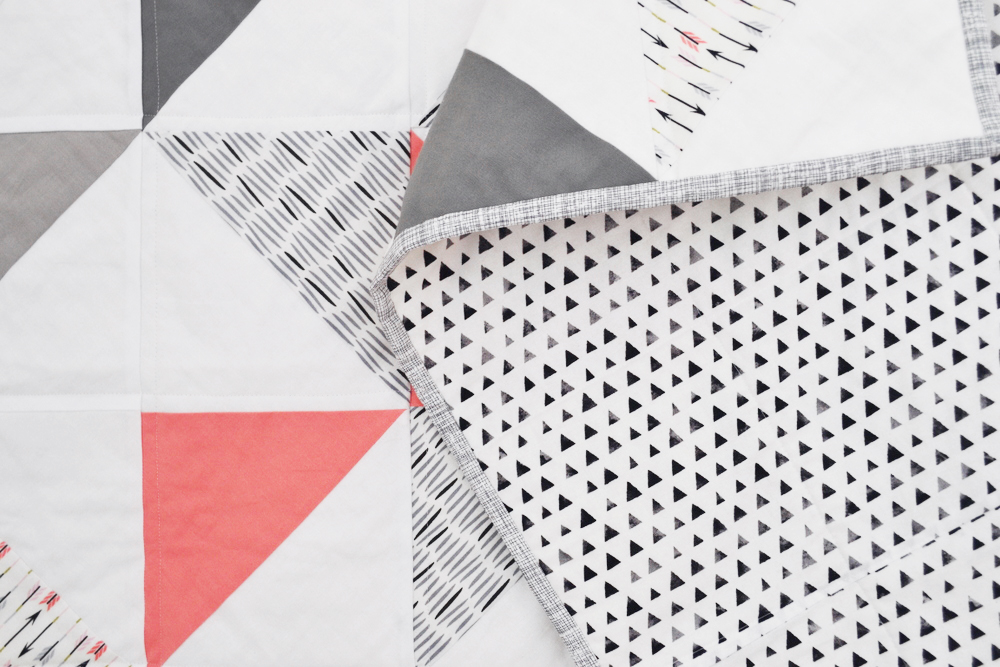 Triangle Quilt Tutorial // lemon squeezy home