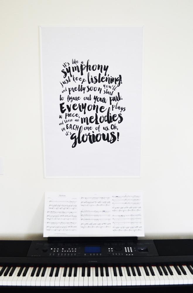 Glorious Poster Print {Free Printable} // lemon squeezy home