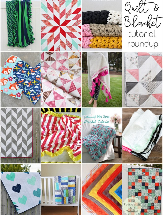 Easy Quilt & Blanket Roundup // lemon squeezy home