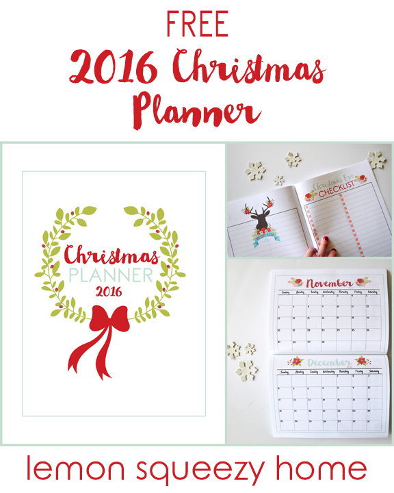 Free Christmas Planner Printable // lemon squeezy home