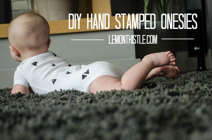 DIY Stamped Onesies - lemonthistle.com