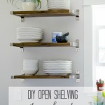 DIY Open Shelving for our Kitchen!