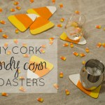 DIY Candy Corn Cork Coasters and Trivets