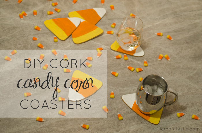 Fun idea! DIY Cork Candy Corn Coasters