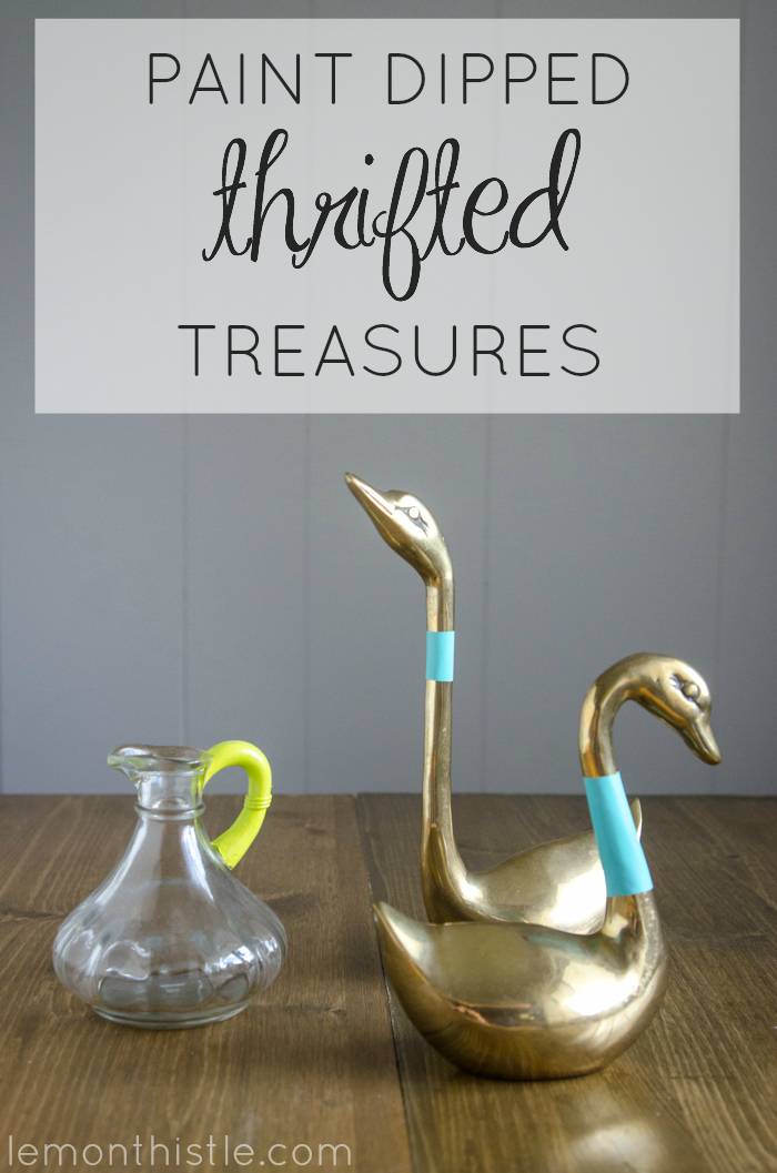 Super fun! DIY Paint Dipped Thrifted Treasures