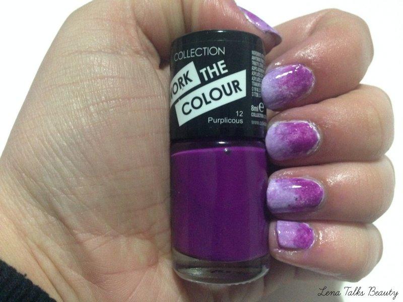Sponge gradient ombre nails