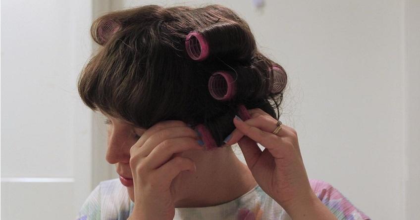 velcro rollers hair tutorial, no heat curls - lena talks beauty