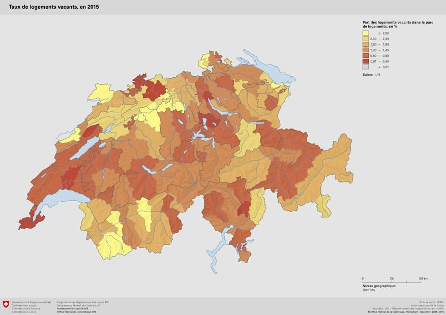 Switzerland housing hot spots 2015