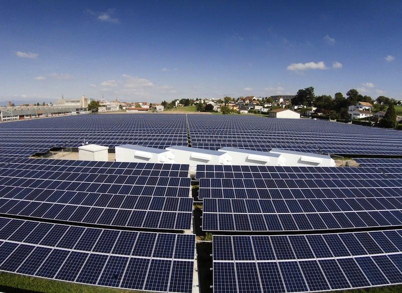 Solar panels Payerne Switzerland_2