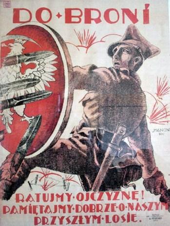 Polski plakat rekrutacyjny z 1920