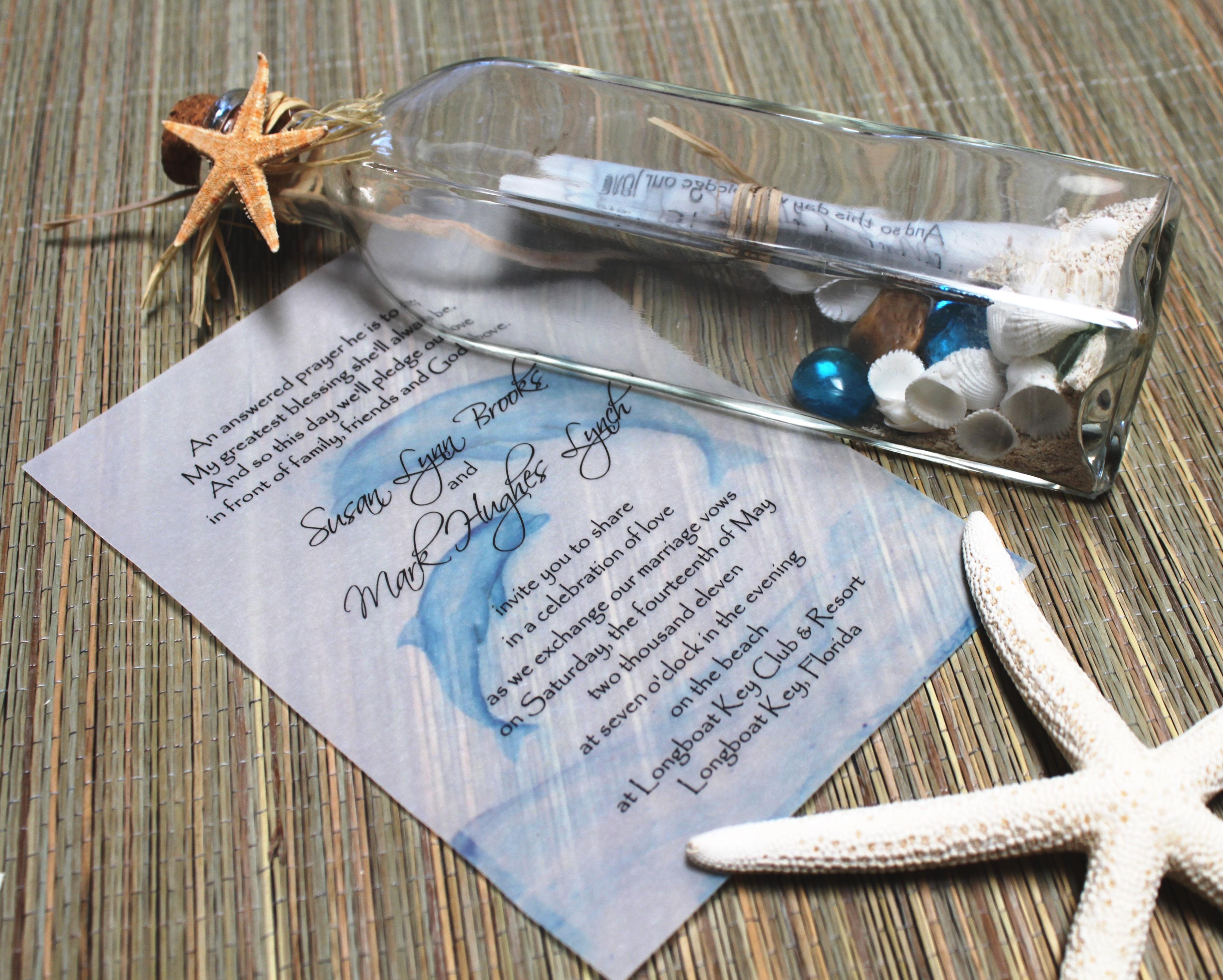 tropical wedding invitations beach wedding invitations Beach Wedding Invitation