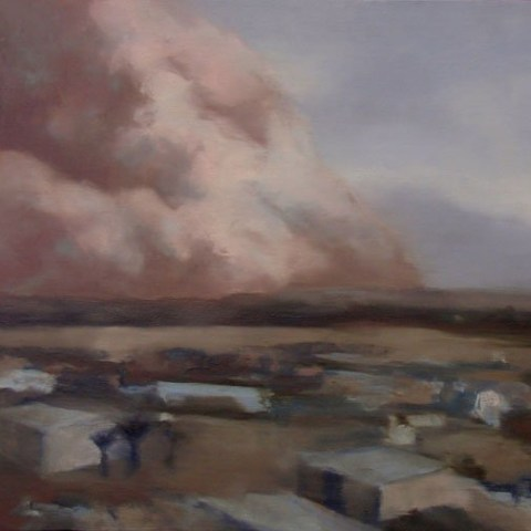 sand-storm-paintings-Sand_ApproachingAl_Asad_Base_120x24