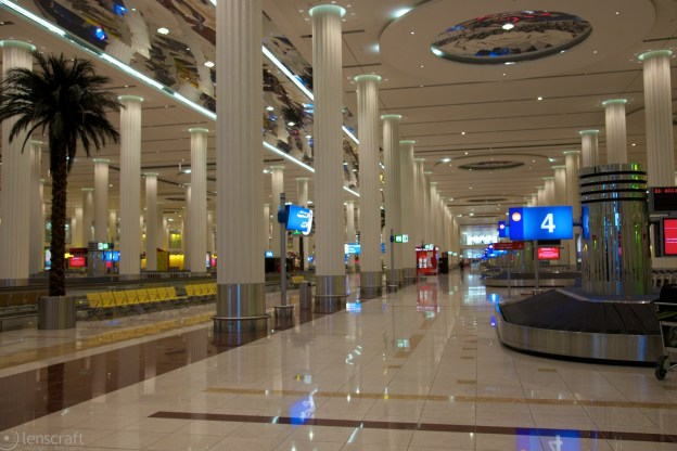 baggage claim hall / dubai, uae