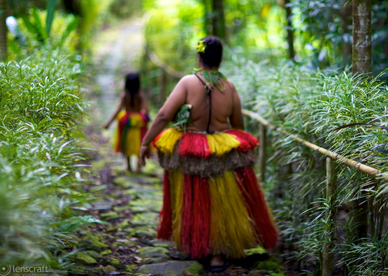 returning to the village / yap, micronesia