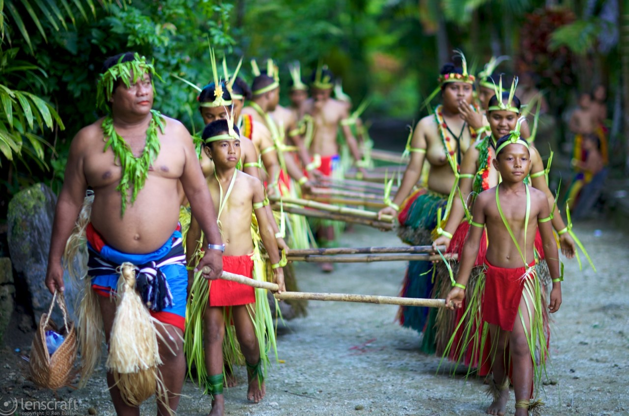 the procession / yap, micronesia