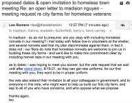 proposed dates & open invitation to homeless town meeting Re: an open letter to madison nguyen - meeting request re city farms for homeless veterans
