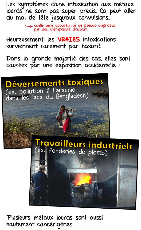 Déversements toxiques travailleurs industriels produits contaminés