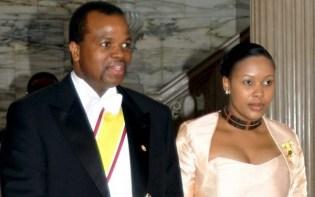 Nothando Dube et Sa majesté le Mswati III.