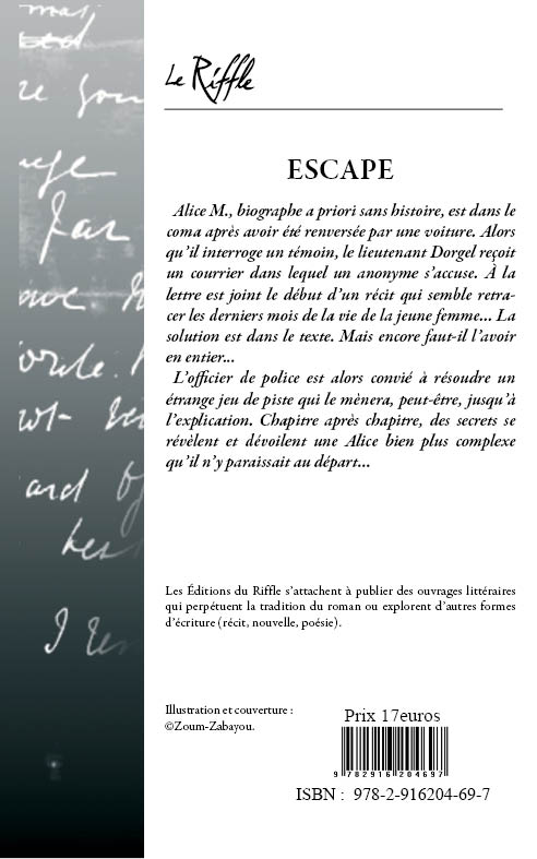 4EME DE COUVERTURE escape