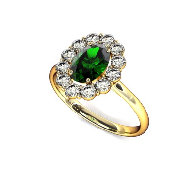 bague-entourage-marguerite-diamants-or-jaune-emeraude-ovale-0