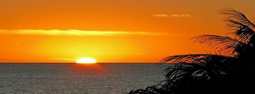 Coucher de soleil en mer photo de couverture facebook - Coucher de soleil en mer ...