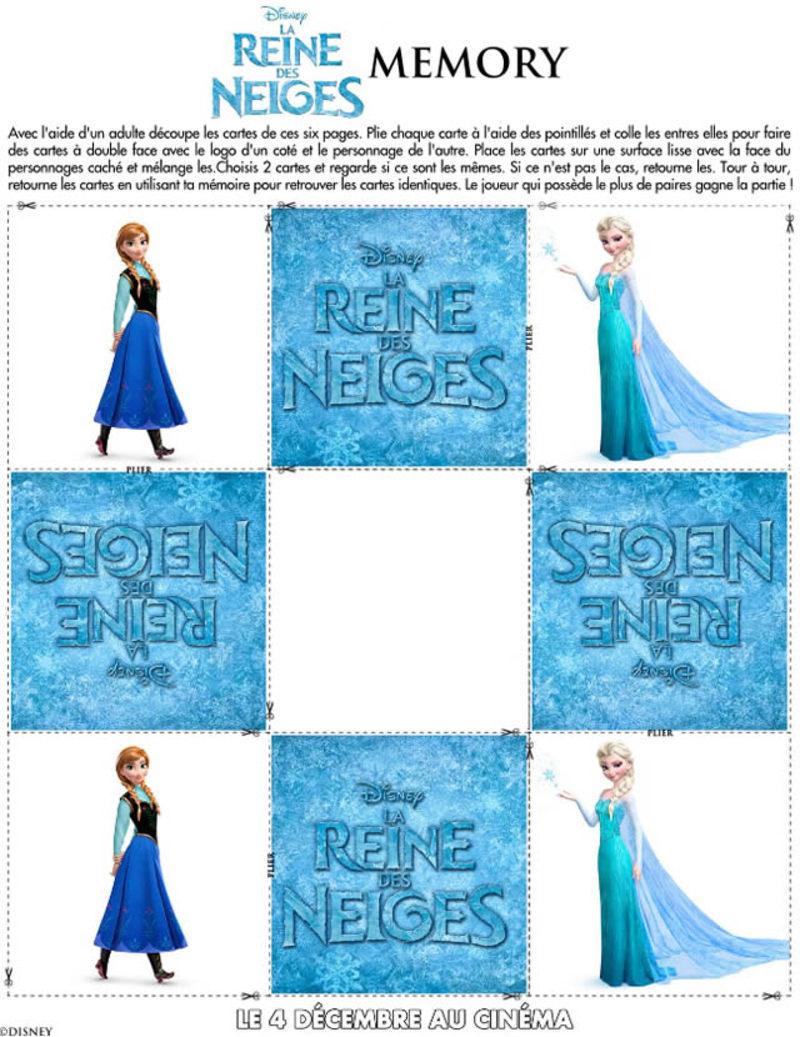 La reine des neiges activit s pour enfant la f e biscotte - Jeux gratuits de reine des neige ...