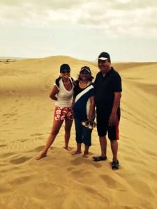 Paseando por las dunas