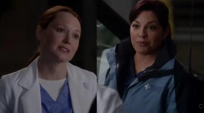 Callie y Penny en Anatomía de Grey