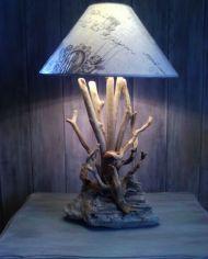 lampe neptuna artisanale bois flotté cap ferret