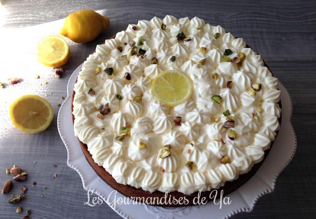 Tarte pistache - citron