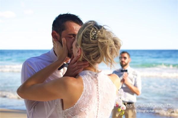 Ceremonie de mariage sur une plage de Martinique 11
