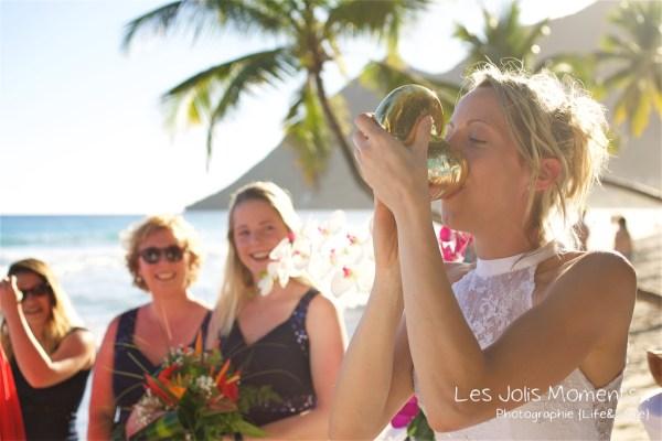 Ceremonie de mariage sur une plage de Martinique 13