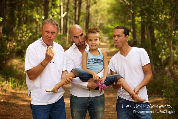 Seance photo grande famille au Courant d huchet 51